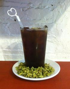 A tall glass of our fresh brewed Iced Cardamom coffee is bound to lift your spirits to new heights!